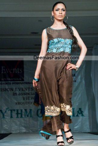 Designer Collection Brown Ferozi Casual Wear