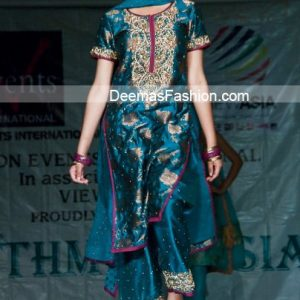 Latest Pakistani Formal Wear - Turquoise Blue Dress