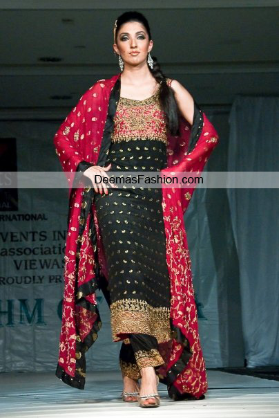 Latest Designer Wear Collection - Black Red Formal Dress