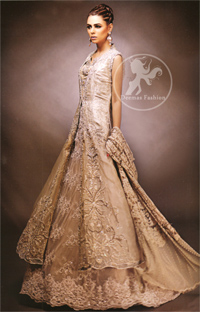 Designer-Collection-2016-Fawn-front-open-gown-and-lehnga1