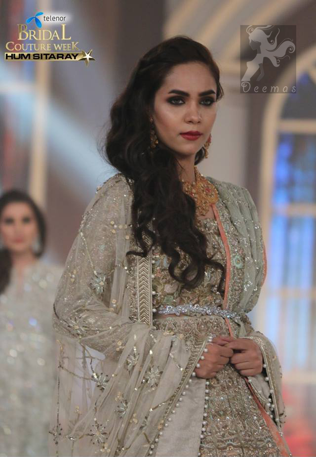 Light Fawn Heavy Bridal Lehengha with Blouse and Embroidered Dupatta