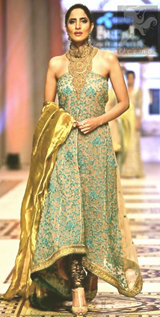 Pakistani Fashion 2017 - Light Brown Back Trail Maxi
