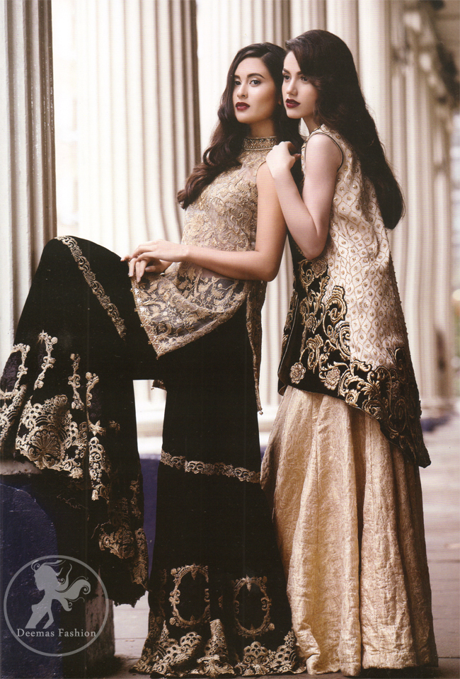 Black Embroidered Jacket With Banarsi Blouse Lehenga