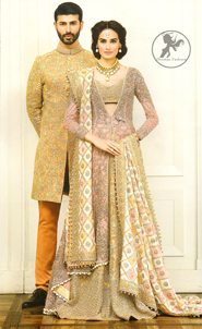 Multiple Color Designer Wear Bridal Blouse, Jacket, Lehenga and Embroidered Dupatta