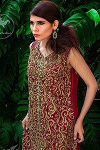 Deep-Red-Bridal-Shirt-Terqouise-Sharara (2)