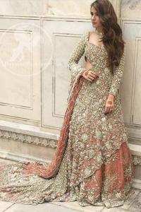 Pakistani-Bridal-Dress-2017-Peach-Back-Trail-Maxi-Lehenga