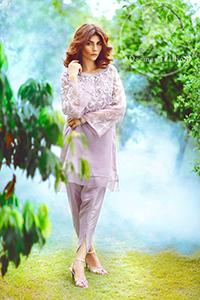 Casual Dress 2017 – Light Purple Short Shirt – Tulip Shalwar
