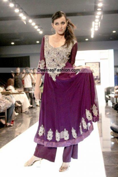Paksitani Fashion Dresses - Magenta Formal Wear