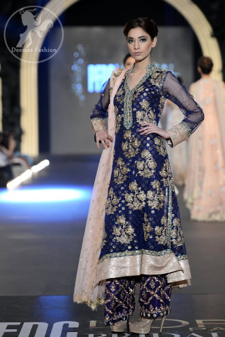 Bridal-Collection-Navy-blue-fully-embellished-A-line-shirt-and-embroidered-trouser