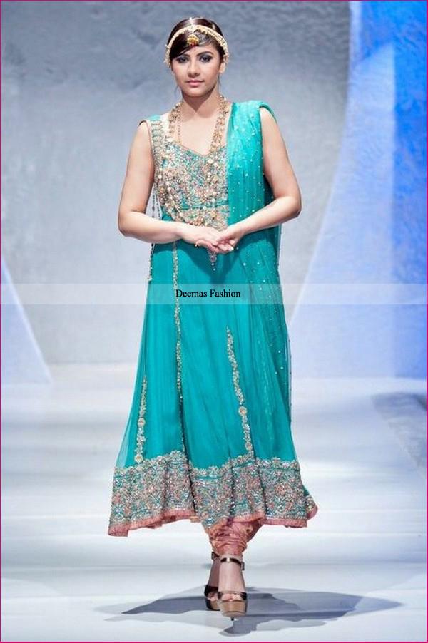 Buy Ladies Fashion Wear Rust Sea Green Anarkali