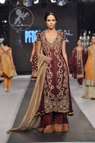 Dark-Maroon-fully-embroidered-shirt-and-flapper