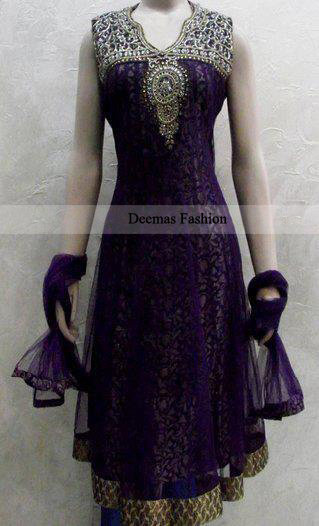 Dark Purple Casual Frock