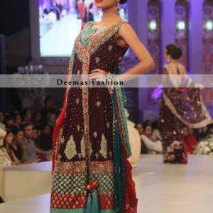 Dark Maroon Andrakha Style Dress
