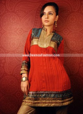 Designer Collection – Red Stylish Kurta Design