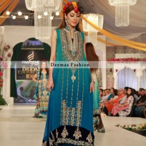Double Tone Aline Back Trail Frock Lehnga