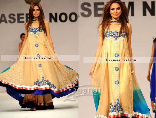 Golden Yellow Frock Sharara