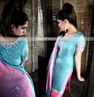Latest Designers Clothes - Pink Ferozi Formal Wear Dress