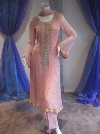 Latest Pakistani Casual Trend - Tea Pink Dress