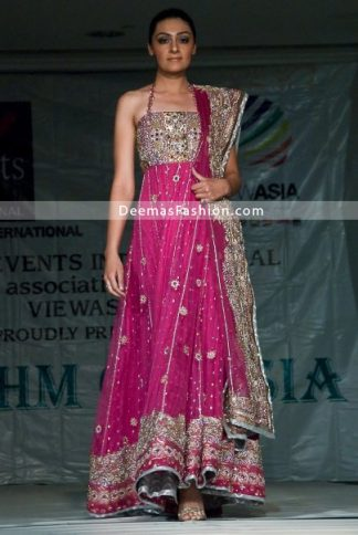 Shocking Pink Bridal Wear Anarkali