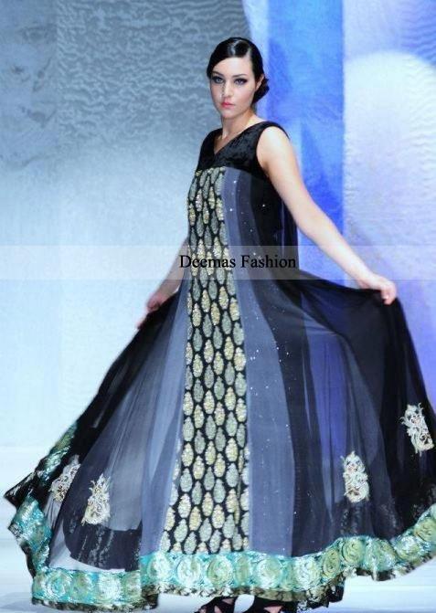 Latest Collection Multi Anarkali Pishwas Dress