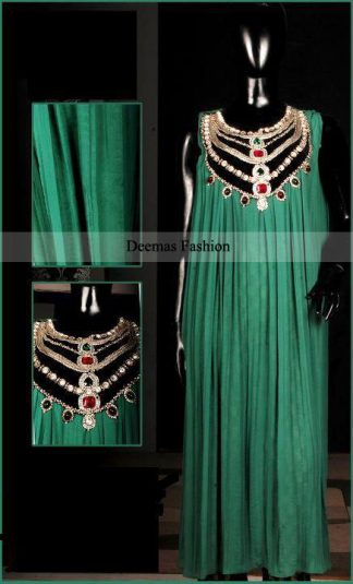 Latest Collection Dark Green Long Pishwas