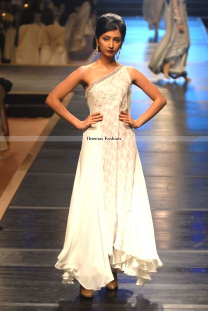 Latest Formal Collection 2013 White Dress