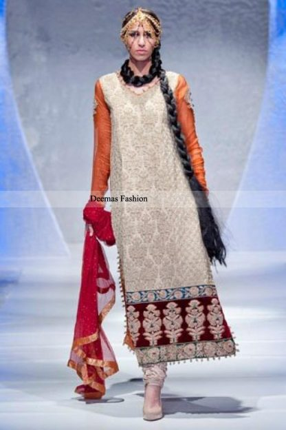Latest Formal Collection Off-White Heavy Formal Shirt Churidar