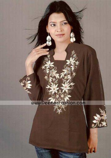 Latest-kurta-Fashion-Brown