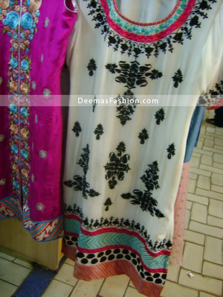 Latest Pakistani Fashion - Elegant White Casual Dress