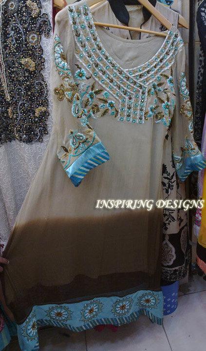 Latest Designer Collection Grayish Brown Casual Dress