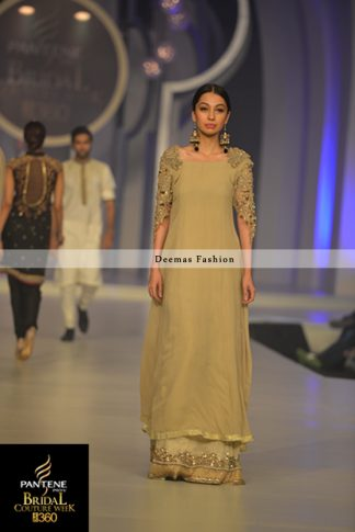 Light Faun Long Shirt Lehnga