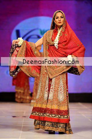 Multi Long Shirt Bridal Wear Sharara