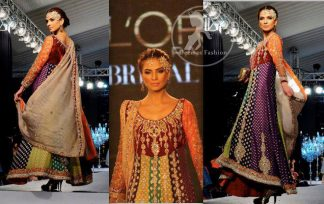 Multiple Panel Embroidered Frock And Churidar