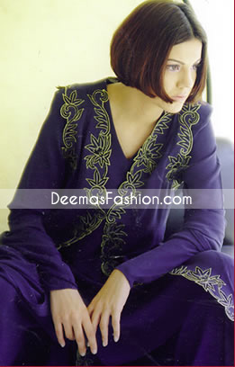 Pakistani Casual Clothes Dark Purple Dress
