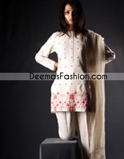 Pakistani Designer Collection White Casual Dress
