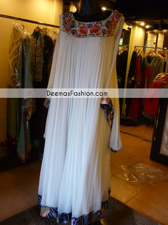 Pakistani Designer Wear Collection White Gown