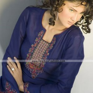 Pakistani Latest Fashion - Blue Kurti Wear