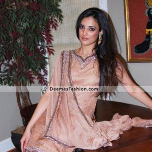 Pakistani Latest Shalwar Kameez Design - Pink Formal Wear Dress