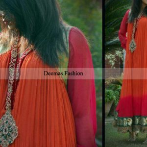 Pakistani Designer Collection Double Tone Anarkali Pishwas