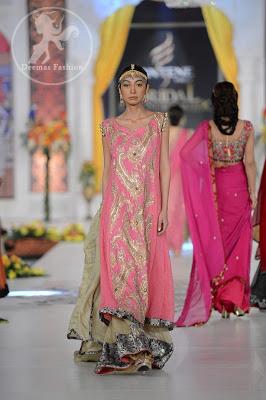 Pink Fully Embroidered Shirt and Fawn Sharara