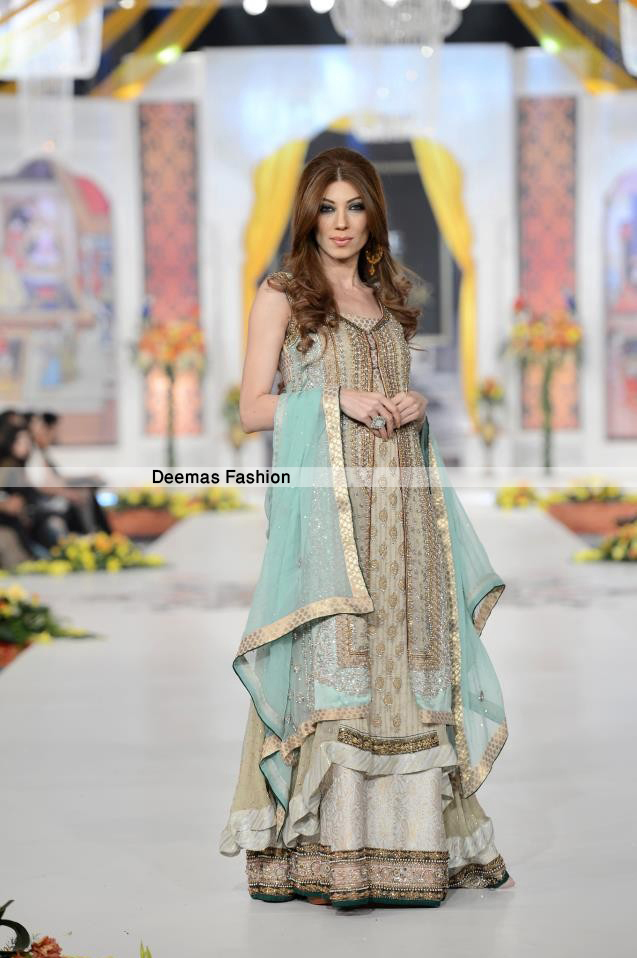 Pistacho Green Gown Back Trail Frock Lehnga1