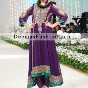 Latest Purple A-line Semi Formal Wear Dress