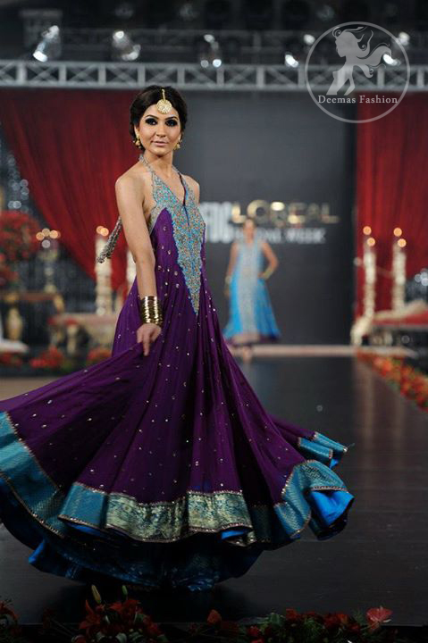 Purple-and-Ferozi-Large-Flair-Frock-And-Trouser