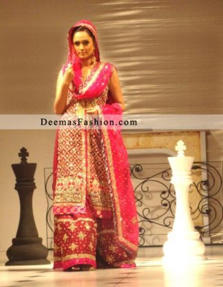 Red Designer Wear Bridal Dress