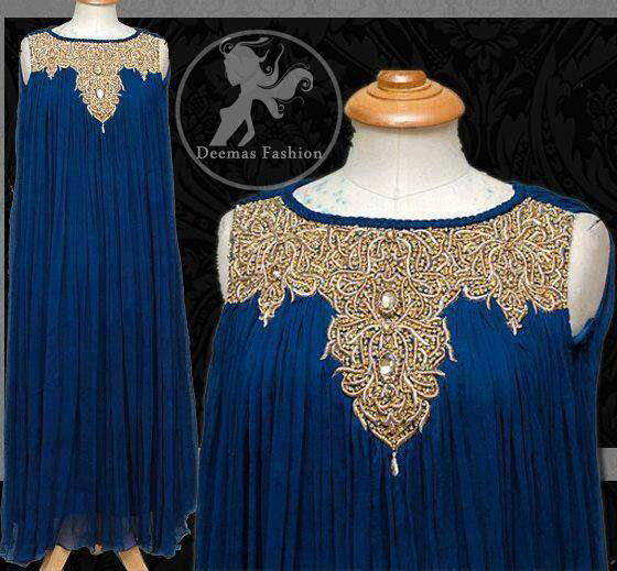 Royal Blue Large Flair Party Wear Gown