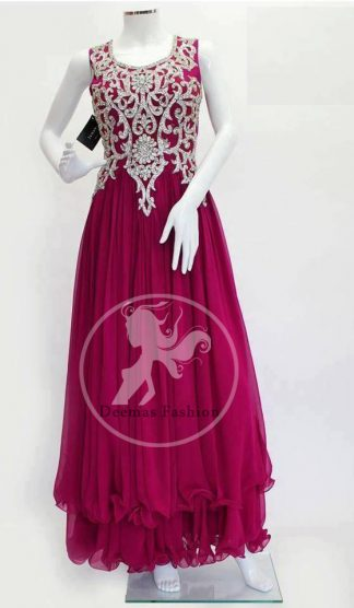 Shocking Pink Double Layer Frock