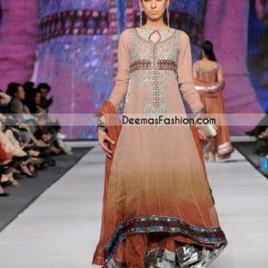 Traditional Dress Pakistani Anarkali Brown Outfit