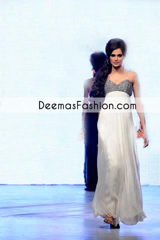 White Maxi Style Pure Chiffon Anarkali Pishwas