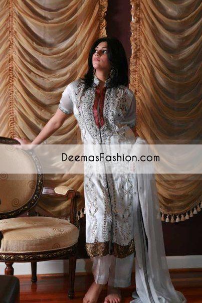 White heavy formal bridal dress