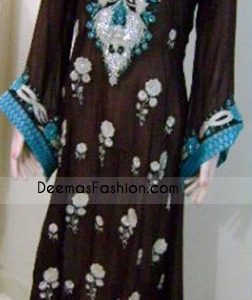 Pakistani Fashion Dark Brown Ferozi Casual Wear